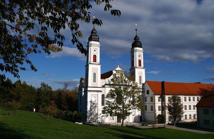 Irsee, Pfarrkirche Mariä Himmelfahrt, Peter und Paul (ehem. Kloster) (Ostallgäu) BY DE