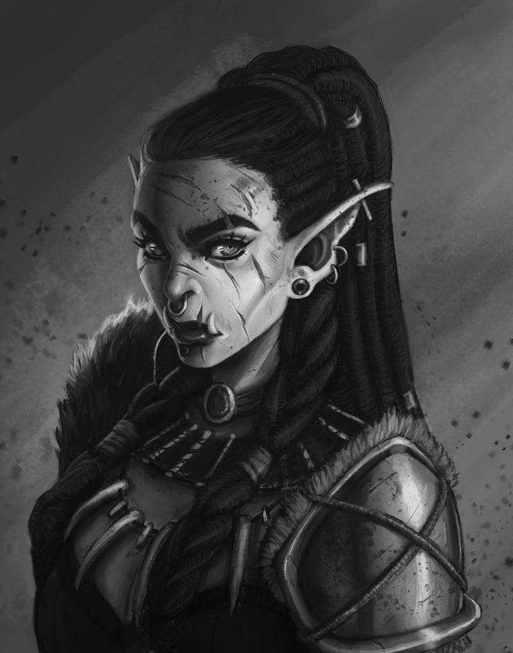 I.W.M — update on the orc lady. She has a name now! ...