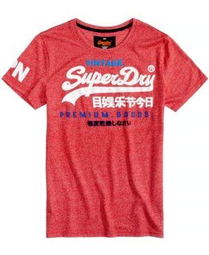 Superdry Men's Vintage Premium Goods Logo-Print T-Shirt - Red XL
