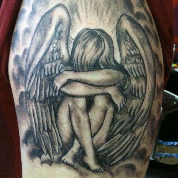 Fallen Angel Tattoo For Women 30 beautiful angel tattoos for girls