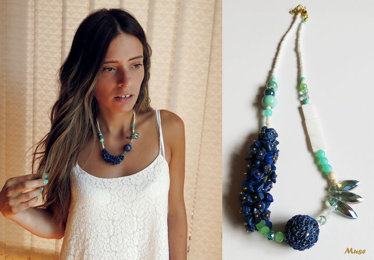 Deep Blue Angel - Muse Unique Handmade Jewelry
