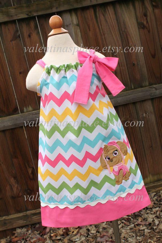 Adorable Skye Paw Patrol pillowcase dress Dress by Valentinasplace, $32.00
