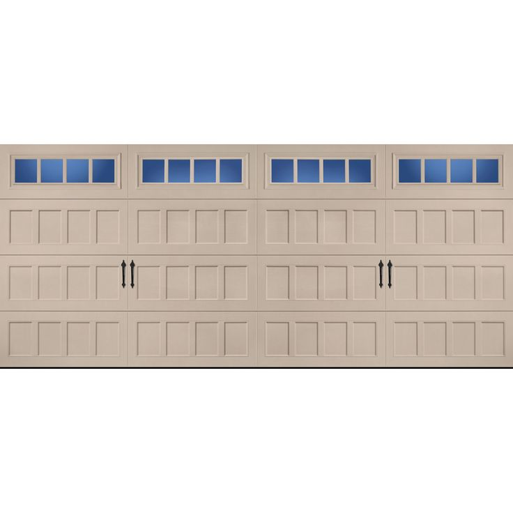 Shop pella carriage house series 16 ft x 7 ft insulated for 18 x 10 garage door