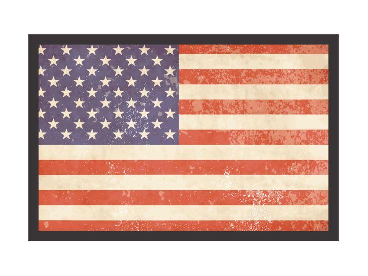 Fußmatte Türmatte FLAGGE USA 1 Amerika Dekomatte von Interluxe via dawanda.com