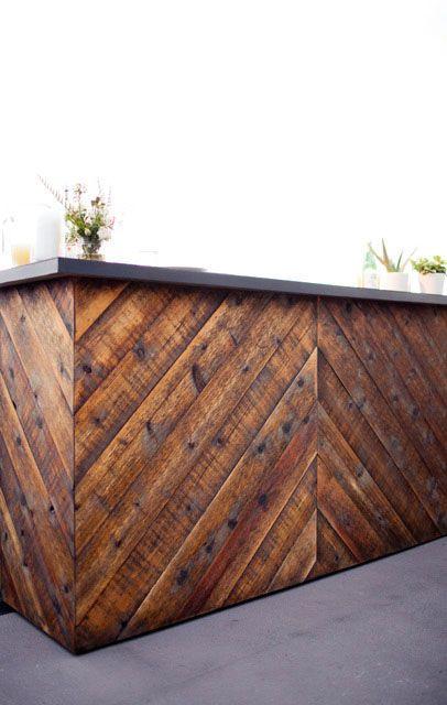 Bar Rustic Herringbone All Things Rental Porch Bar