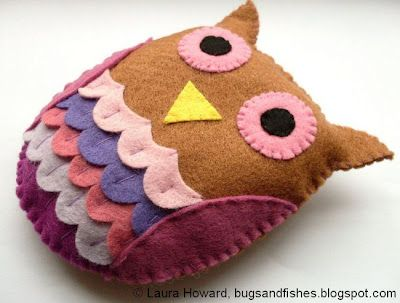Little felt owl DIY. Easy enough, but takes time. Includes a template which will be super useful!