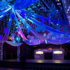 Winter Wonderland theme Draping & decor