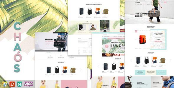 Download Free              Chaos - Responsive Bag Shop Theme            #               agency #blog #business #clean #corporate #creative #ecommerce #elegant #fashion #minimal #modern #portfolio #professional