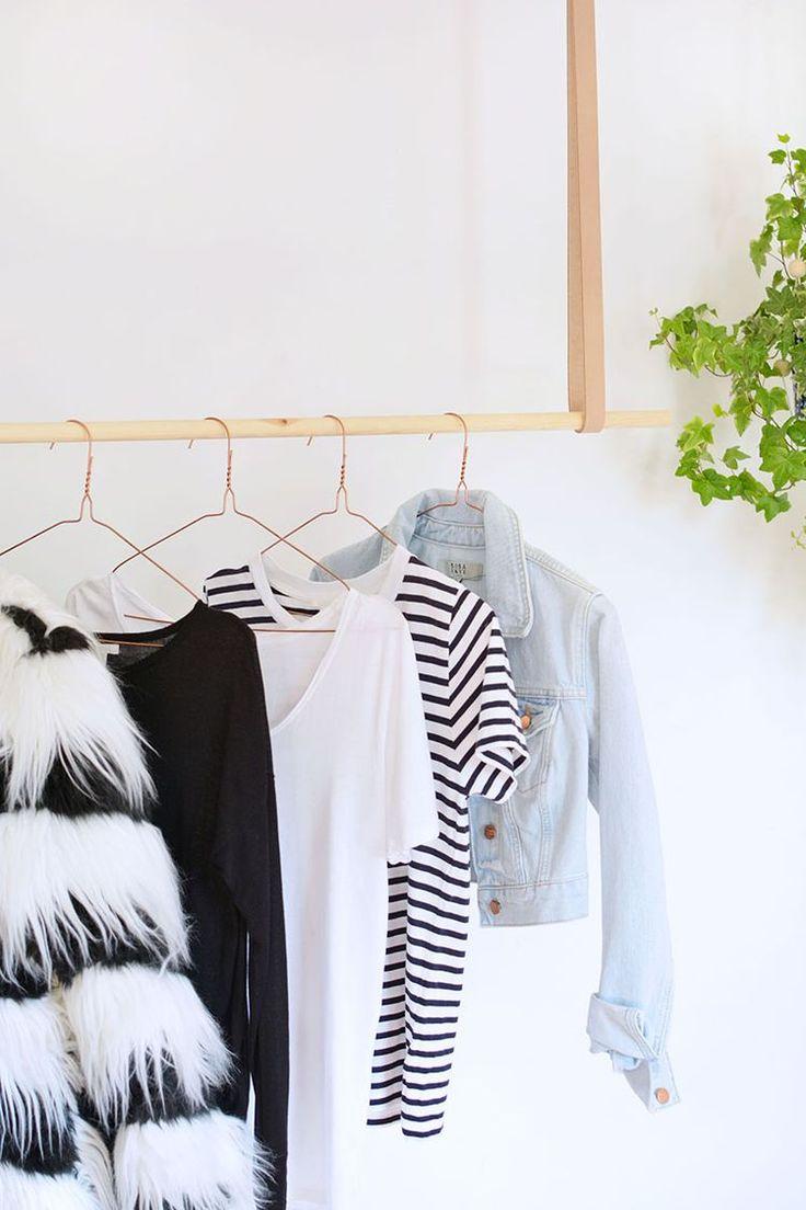 DIY | hanging clothes rail