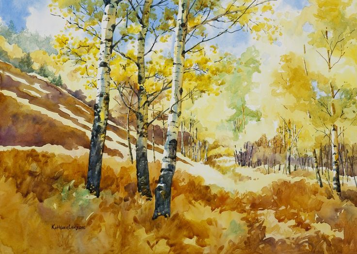 "Kathleen Lanzoni fine watercolor artist, Light's Invitation 20"" x 16"" original watercolor - giclee available"