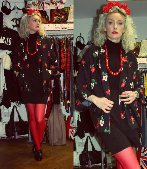 10-11-13 - Motel Red Pansie Kimono RRP £50 Rokii £40, & Red Rose Flower Crown Rokii £10, Rokii Portsmouth, www.rokii.co.uk Order through FB or on the phone 02392294081 and get FREE LOCAL DELIVERY PO1-PO6, Lay Away until Christmas Kimono, flower Crown, Lipstick, earings, Necklace all Rokii Portsmouth   Motel Rocks Kimono Top In Red Pansie Rrp £50   Rokii £40, Rokii Red Flower Crown Made To Order From £10, Rokii Gold Earings £3, Miss Selfridge Red Beads C2001, Rimmel Kate Moss Lipstick No:22…