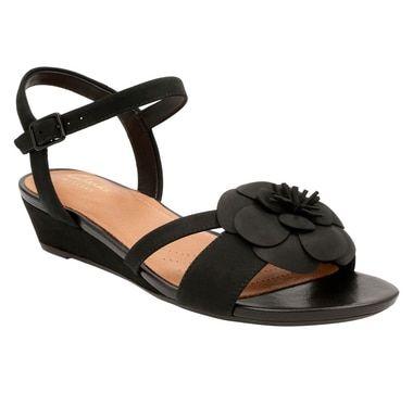 Clarks Parram Stella Ankle Strap Low Wedge Sandal