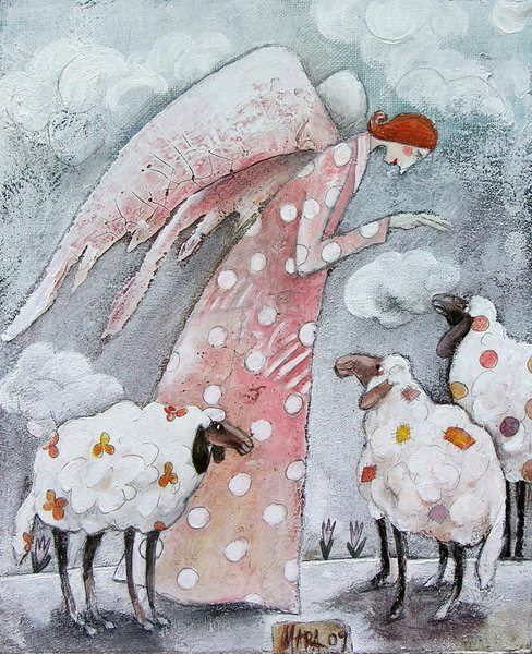 two of my favorite things - angels & sheep