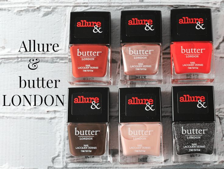 The Allure & butterLONDON Arm Candy Nail Lacquer Collection!