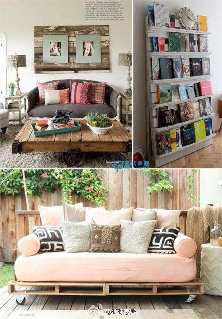 pallet furniture. Like bookshelf idea