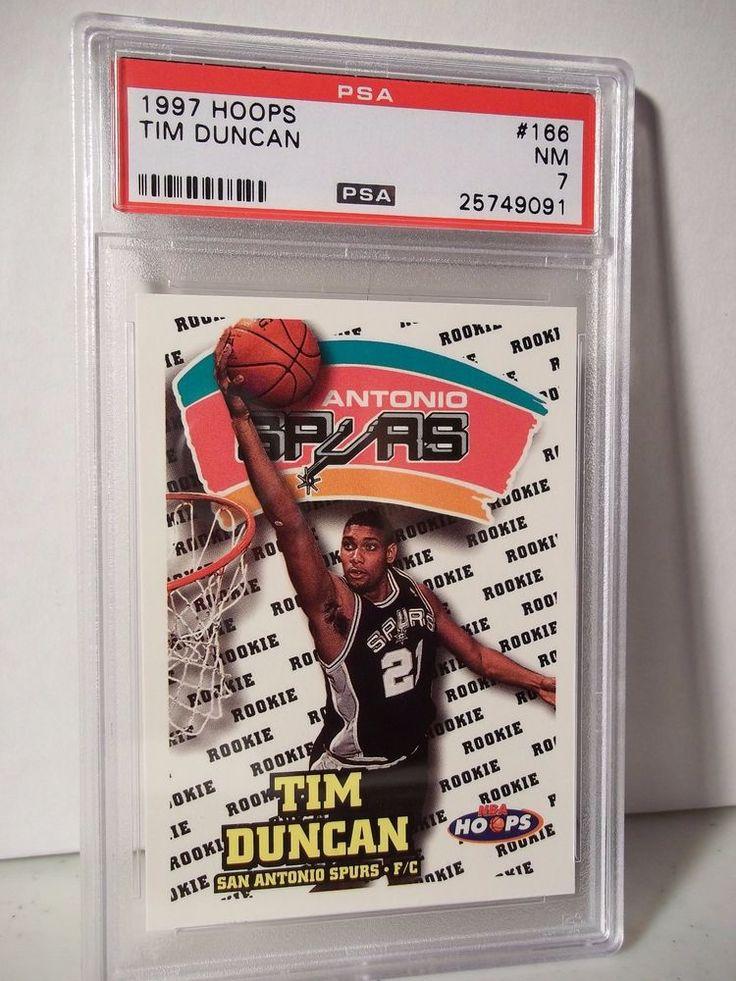 1997 hoops tim duncan rc psa nm 7 basketball card 166 nba