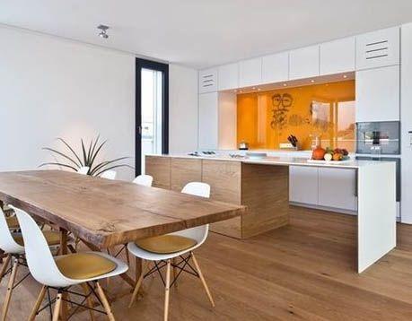 Hout en wit in de keuken kitchens pinterest kitchens - Keuken steen en hout ...