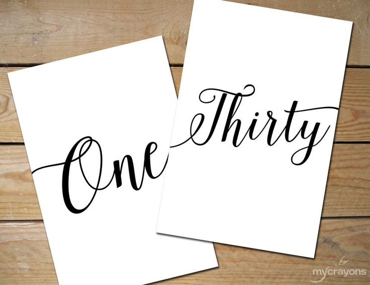 Bella Script Table Numbers 1-30 // Printable Black and White Table Numbers // 5x7, 4x6 Table Number Spelled Out, Wedding Table Signs by MyCrayonsDesign on Etsy https://www.etsy.com/listing/224936699/bella-script-table-numbers-1-30