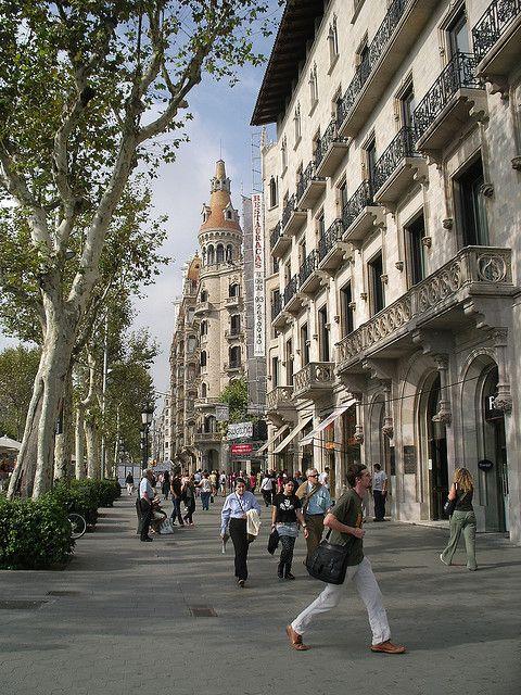 Passeig de Gràcia, Barcelona (Spain)