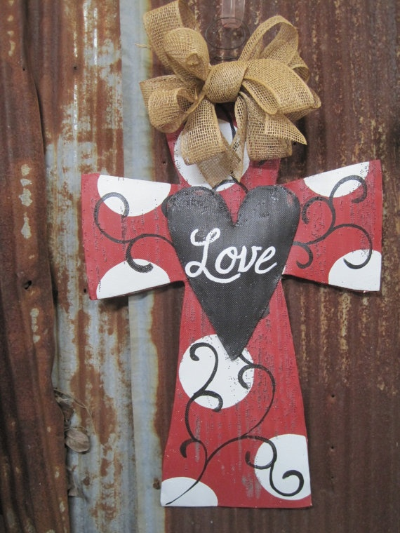 air jordan  retro infrared  for sale Valentine Cross Door Hanger     via Etsy