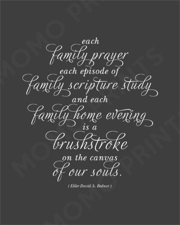 Every little bit helpsFamilies Prayer, Bednar Quotes, Fhe Quotes, Elder David, Lds Family Quotes, Canvas, Soul Quotes, Elder Bednar, Mormon Prayer Quotes