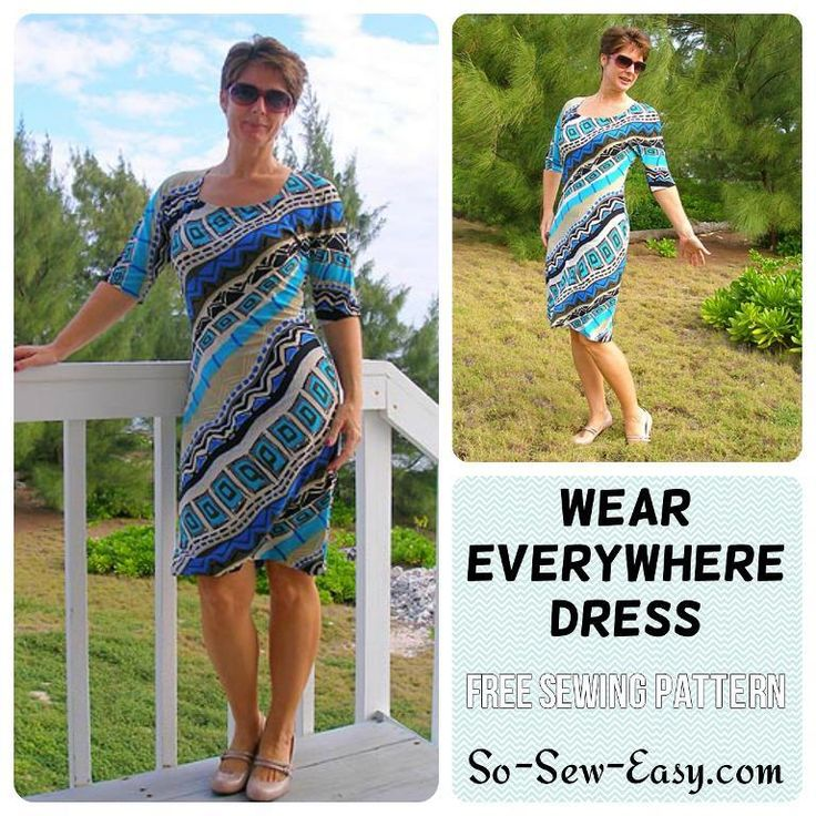 (9) Name: 'Sewing : Wear Everywhere easy knit dress
