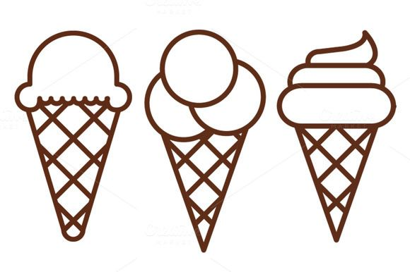 Ice cream icons by Iconika on @creativemarket