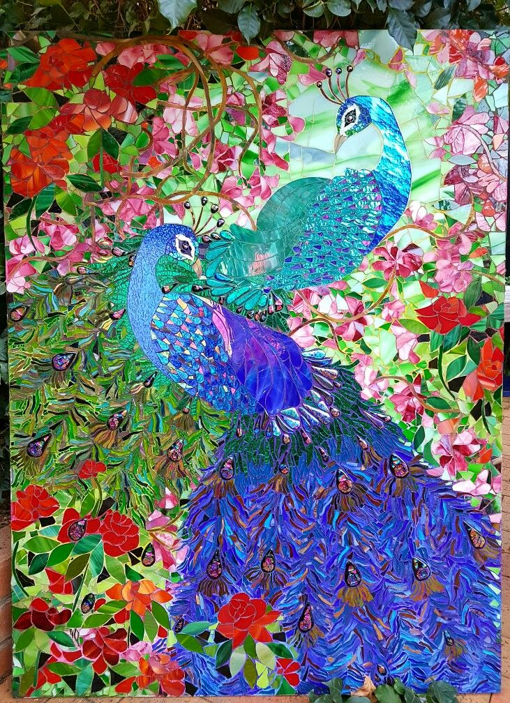 The Watchful Guardians- twin peacocks by Anisa Sharif