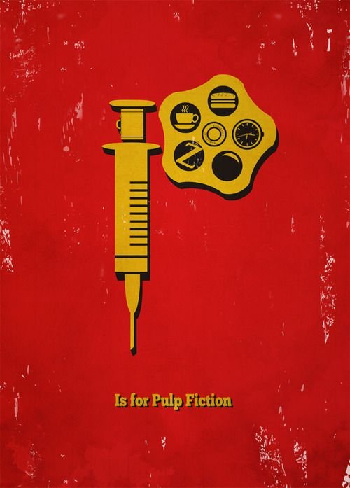love!: Meagan Movie, Movie Alphabet, Minimalist Movie Poster, Alphabet Poster, Art Prints, Favorite Movie, Film Poster, Pulp Fiction, Meagan Hyland