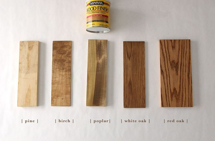 How 6 Different Stains Look On 5 Popular Types Of Wood