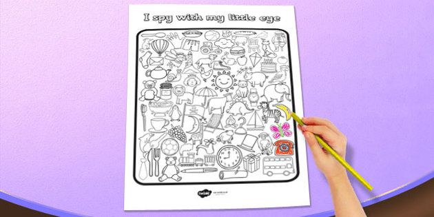 I Spy With My Little Eye Colouring Activity Sheet Twinkl