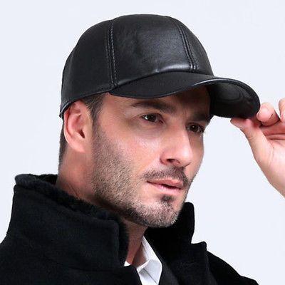 Hats, Men's Accessories, Clothes, Shoes & Accessories uk.picclick.com Men's Genuine Leather Black Adjustable Casual Sport Baseball Golf Cap Hat