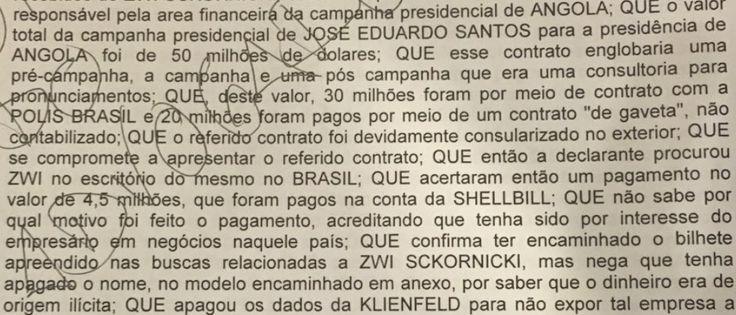 O Antagonista - O PT E A DIVISÃO DOS US$ 50 MILHÕES DE ANGOLA