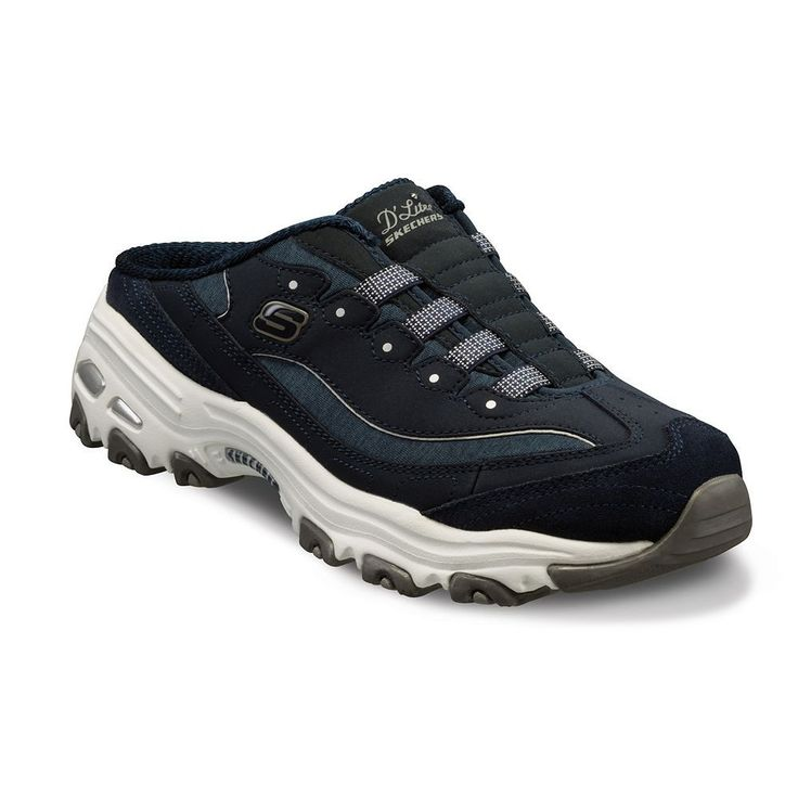 Skechers D'Lites Resilient Women's Slip-On Shoes, Size: 5.5, Med Blue