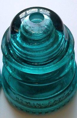 Glass Insulator Pendant Light -1 Predrilled Insulator For DIY Lighting Lamps