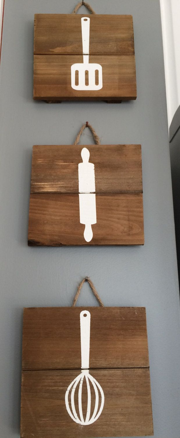 Kitchen Pallet Decor by MattyJDesigns on Etsy
