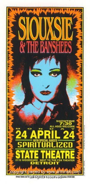1995 Siouxsie and the Banshees Poster by Mark Arminski (MA-032)