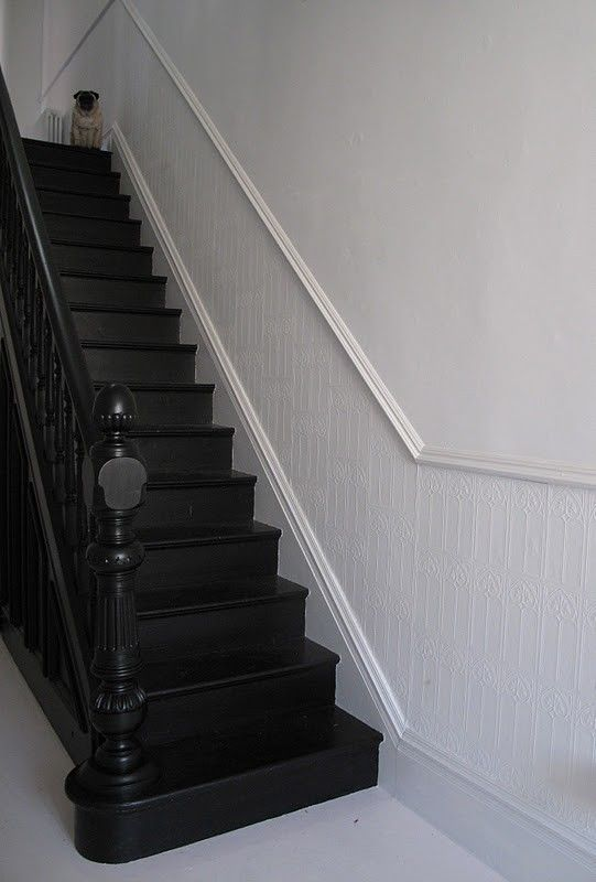 all black painted stairs. If i had stairs, they would be black stairs.