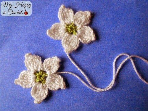 Crochet Blackberry Flower - Free Pattern