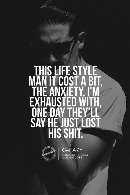 This lifestyle man it cost a bIt, the anxiety, i'm exhausted with