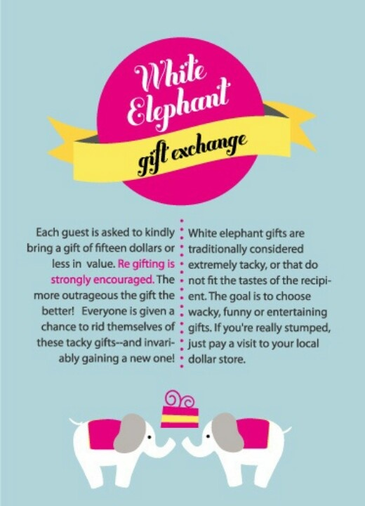 22 best white elephant gift exchange images on pinterest | white, Party invitations