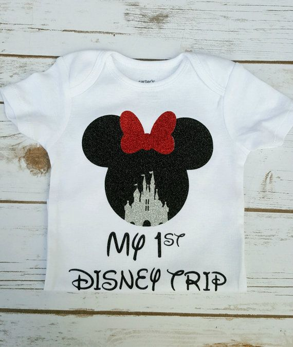 Minnie mouse outfit my first Disney trip by CorasChicBoutique