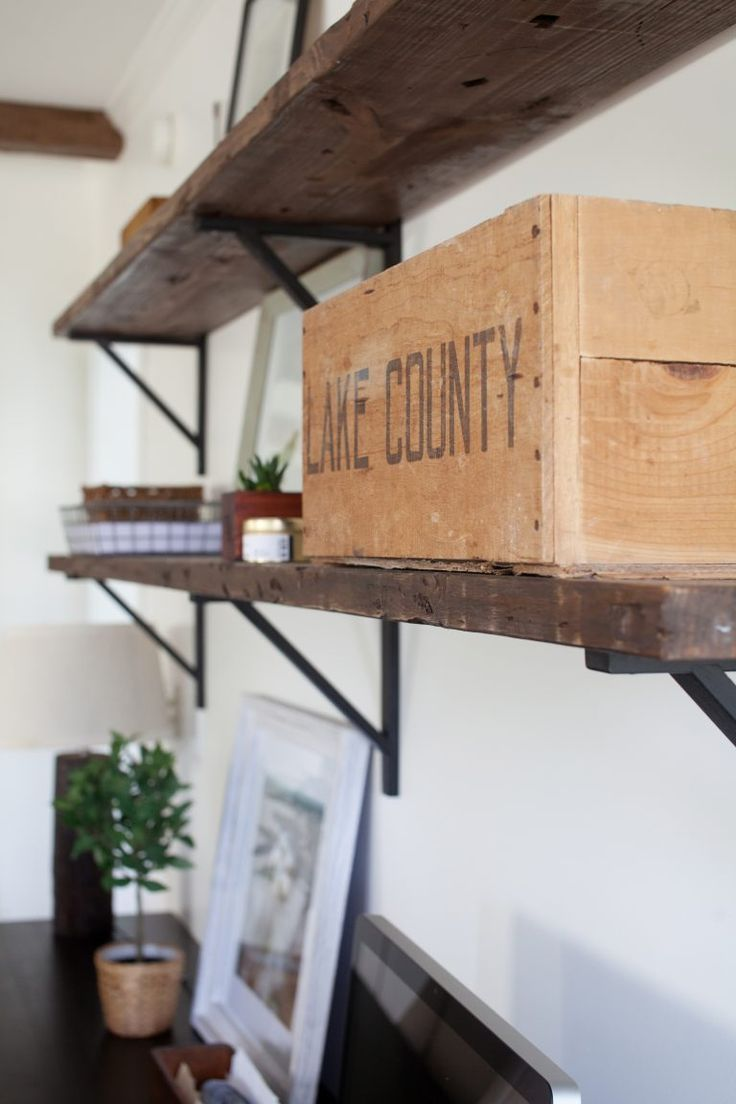 Lake County Crate Farmhouse Decorating Home Office