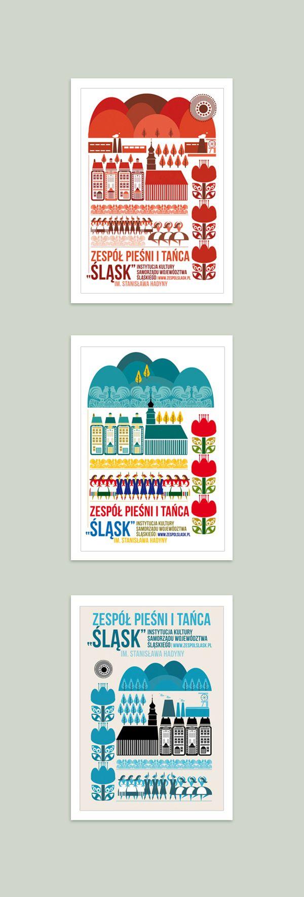 Poster - Śląsk Martyna Wójcik-Śmierska https://www.behance.net/gallery/8061893/POSTERS