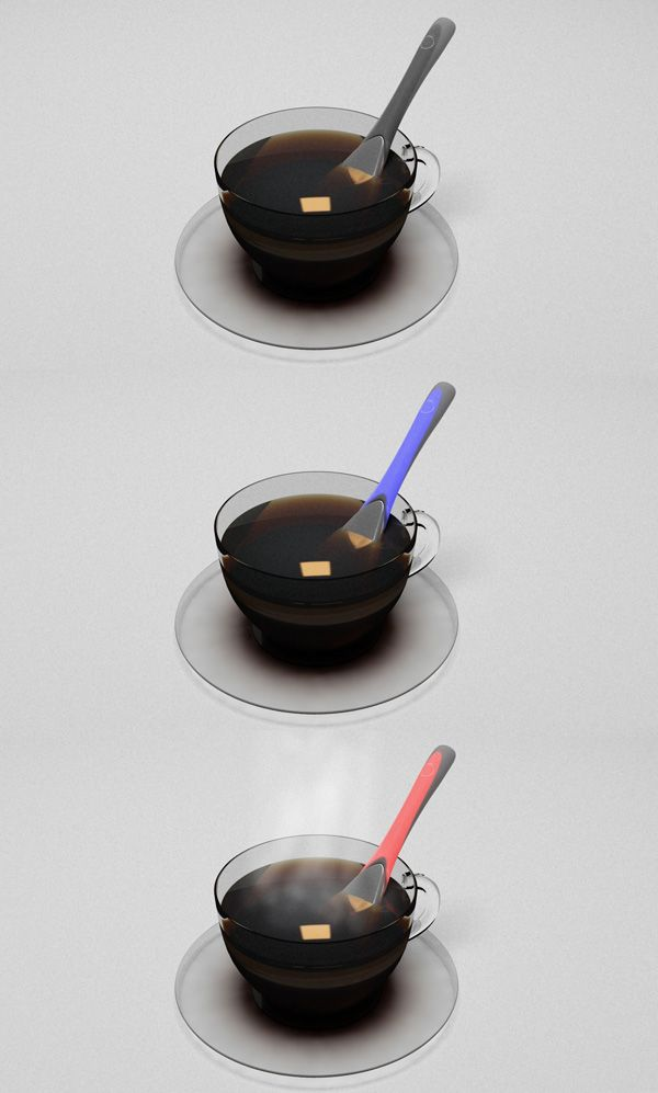 Halo heating spoon keeps your drink warm