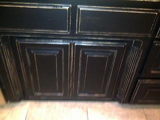 Black Distressed Kitchen Cabinets distressed black kitchen cabinets - probrains