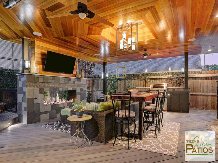 Stunning Outdoor Living Room And Kitchen ~ Texas Custom Patios