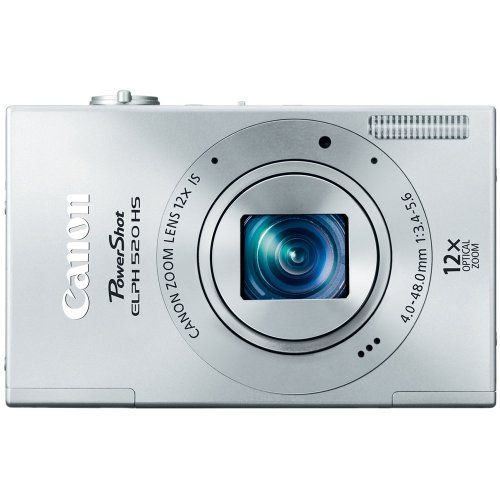Canon PowerShot ELPH 520 HS 10.1 MP CMOS Digital Camera with 12x Optical Image Stabilized Zoom 28mm Wide-Angle Lens and 1080p Full HD Video Recording (Silver) - http://allgoodies.net/canon-powershot-elph-520-hs-10-1-mp-cmos-digital-camera-with-12x-optical-image-stabilized-zoom-28mm-wide-angle-lens-and-1080p-full-hd-video-recording-silver/