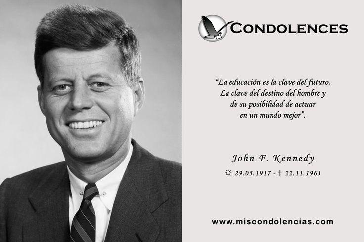 #JohnFKennedy - Líder Político y Ex-Presidente de Estados Unidos. En su gobierno se dio el inicio de la carrera espacial y la consolidación del Movimiento por los Derechos Civiles en Estados Unidos, entre otros hechos importantes.