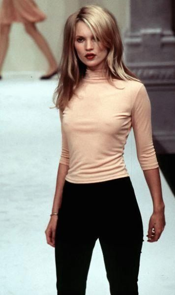 Love the blush and black combo  Kate in, Blush + black.